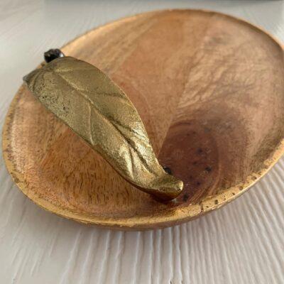 'Gold Leaf' Wood Platter