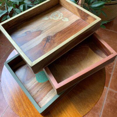 'Fern' Small Wood Tray (single)