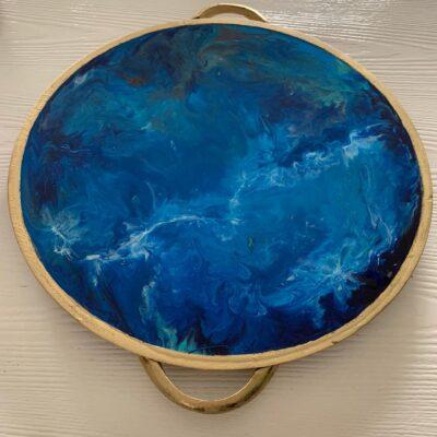 'Ocean#1' Large Wood Tray