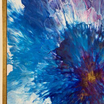 'Iris#2' Acrylic Painting on Canvas