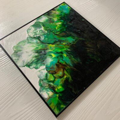 'Fluid' Acrylic Painting on Canvas Board (Set of 3)