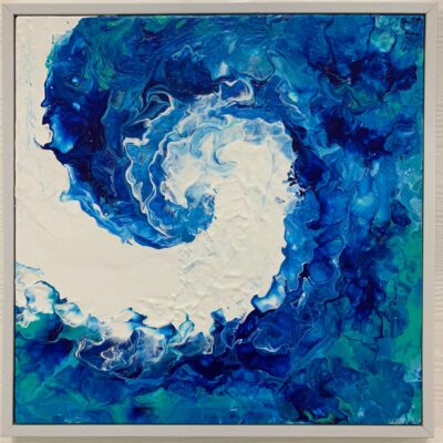 'Wave' Acrylic Painting on Canvas