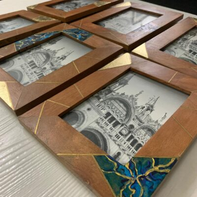 'Golden Blues' Photo frames