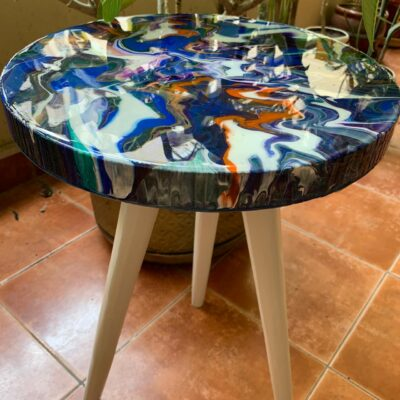 'Graphic' Round Side Table