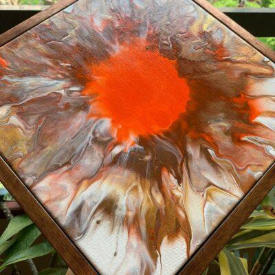 'Rays #1' Acrylic Painting on Canvas
