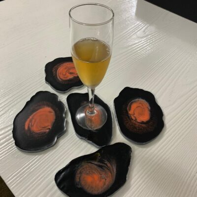 'Coral' Resin Coasters (set of 5)