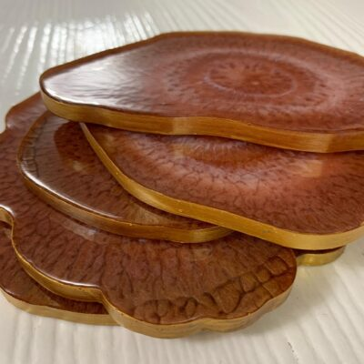 'Copper' Resin Coasters (set of 5)
