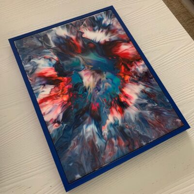 'Spark' Acrylic Painting on Canvas with Epoxy Resin finish