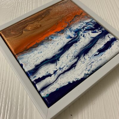 'Ocean series' Mini Acrylic Painting on Stretched Canvas (set of 6)