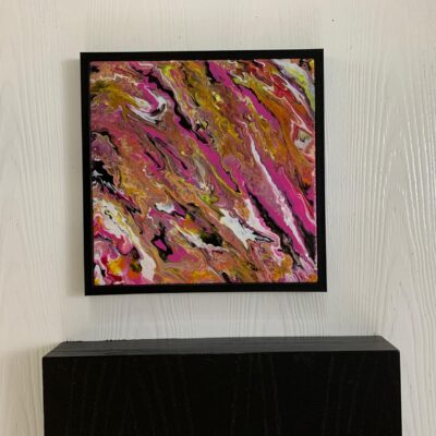 'Melting Pot' Abstract Painting on Stretched Canvas
