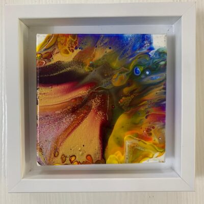 'Midas Touch' Abstract Paintings on Canvas with Resin Finish (set of 2)