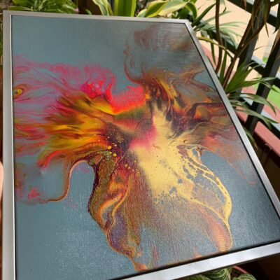 'Rising Phoenix-1' Abstract Acrylic Paintings on Canvas (single)