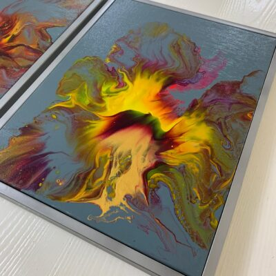 'Rising Phoenix-2' Abstract Acrylic Paintings on Canvas (single)