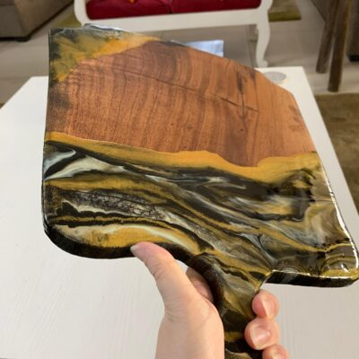 'Glam' Wood Serving Epoxy Resin Tray